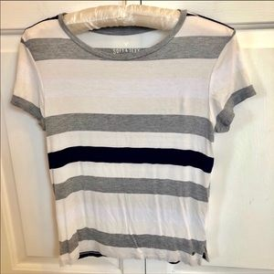 American Eagle white striped soft and sexy t-shirt